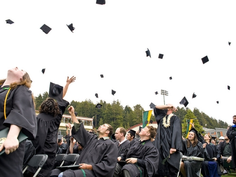 Graduation - Cap throwing