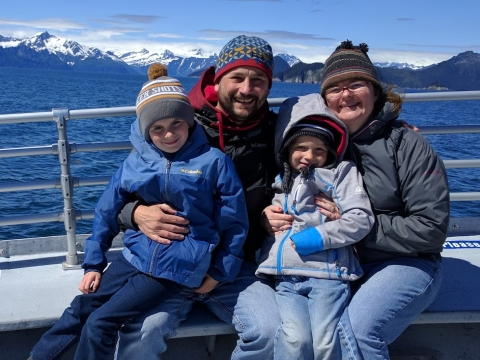 Donor Ben Gilbert pictured with his family.